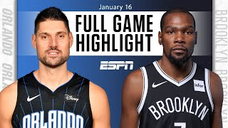 Orlando Magic vs. Brooklyn Nets [FULL GAME HIGHLIGHTS] | NBA on ESPN
