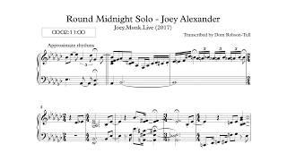 [Transcription] Round Midnight - Joey Alexander
