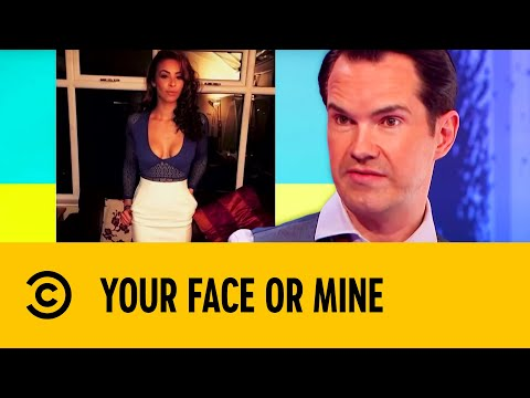Jimmy Carr Can't Get Enough Of This Good Looking Guest | Your Face Or Mine