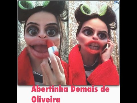 Tutorial de maquiagem by: Abertinha- boca grande snap chat