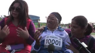 Man Kaur the 101 year old runner from India claims her first gold m...