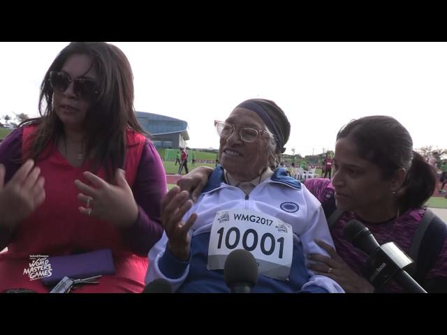 Esta anciana de 101 años impresiona al mundo tras correr 100 m. en 74 segundos