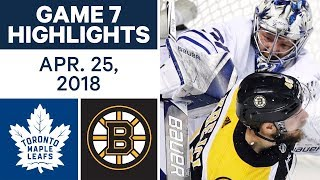NHL Highlights | Maple Leafs vs. Bruins, Game 7 - Apr. 25, 2018