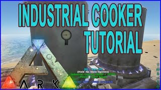 Ark Survival Evolved - Industrial Cooker How To Place It And What It's Used For