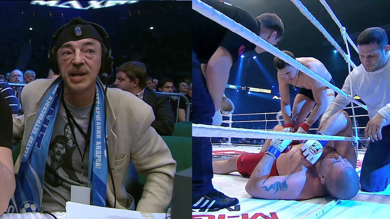 НОКАУТ поразил Боярского! Сокрушительный лоу-кик в бою тяжеловесов! Максим Гришин vs Кученко !