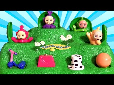 Teletubbies Pop Up Surprise Baby toys Tinky Winky, Dipsy, Laa-Laa and Po Stacking Cups Surprise Eggs