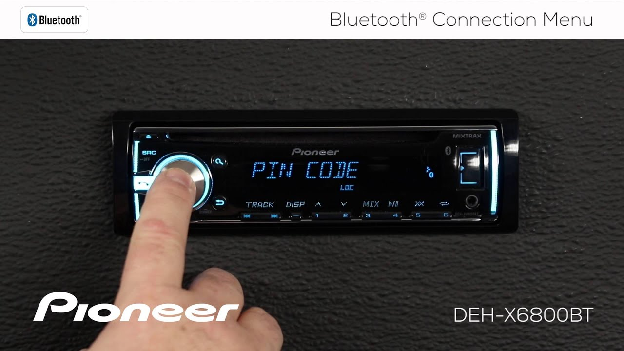 How To Deh X6800bt Bluetooth Connection Menu Youtube Need Know What Each Color Wire On A Pioneer Deh1300mp