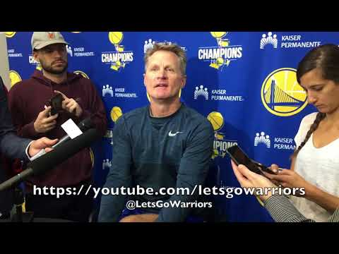 """Entire KERR interview: """"We can beat anybody...w/o Steph (Curry)"""", """"got to protect him from himself"""""""