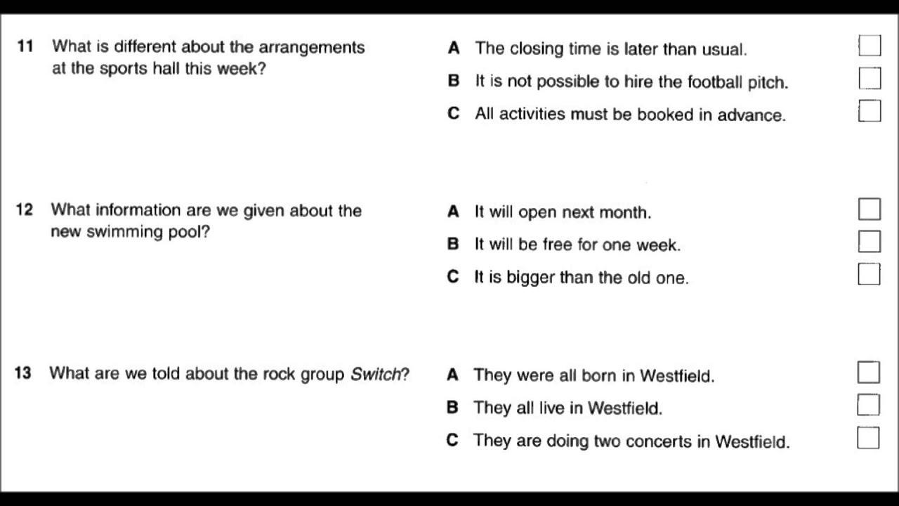 Pet Exam Listening Practice Part 2 Youtube