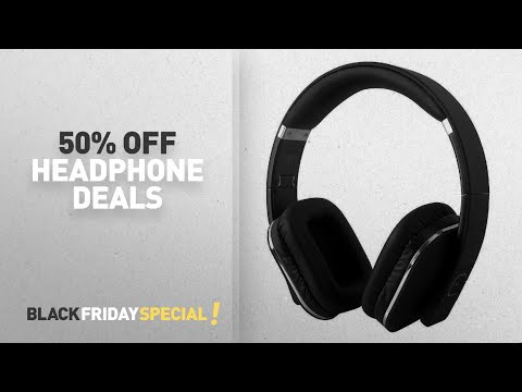 06ea851a74d Black Friday 50% Off Headphones Deals: Over Ear Bluetooth Wireless  Headphones - August EP650 - Enjoy - YouTube