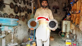 How to rebuild a Clขtch Plate || Restoration of a Clutch Plate || Rebuild an old Clutch Plate