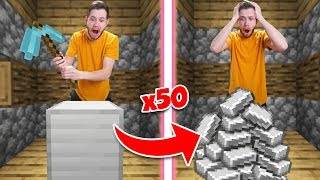 Minecraft Survival Except Every Time You Break A Block IT MULTIPLIES! #2