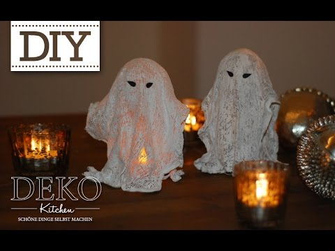 diy coole halloween gespenster selber machen deko kitchen youtube. Black Bedroom Furniture Sets. Home Design Ideas