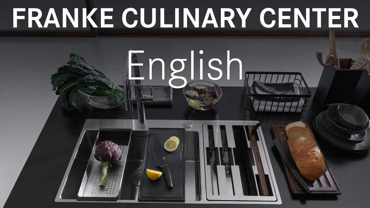 franke culinary center sink stainless steel complete english