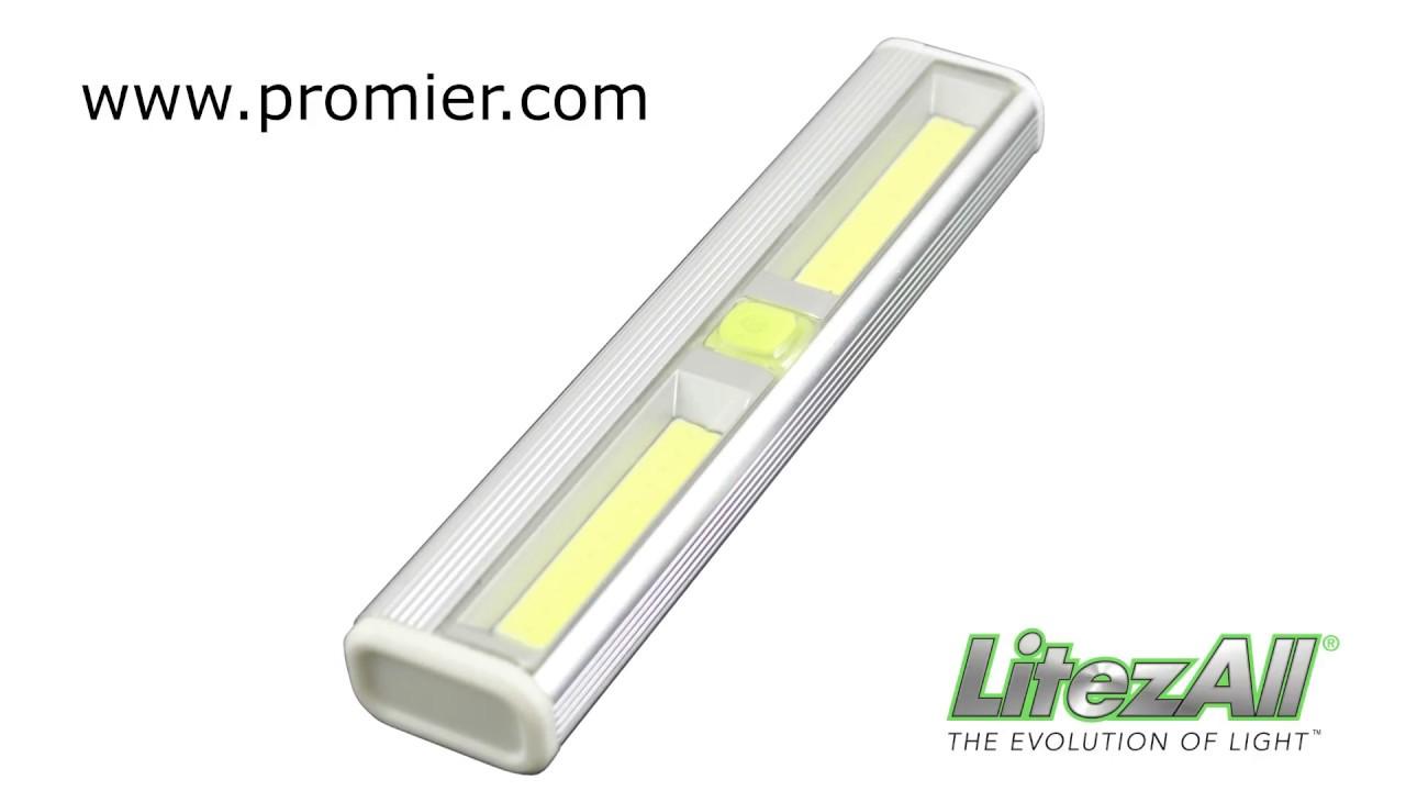 Promier Litezall Wireless Cob Led Light Bar Youtube