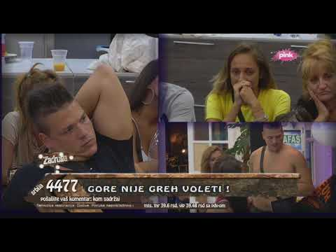 Zadruga - Zadrugari gledaju klip na kom Kija i Sloba plešu i grle se - 01.06.2018.