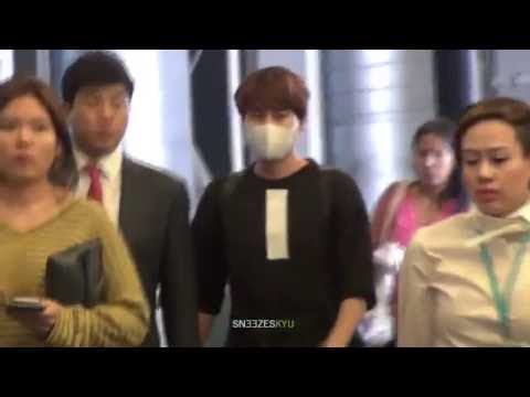 [Sneezes' CAM] 160910 KYUHYUN at Bangkok Airport (Departure)