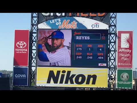 Jose Reyes Walk Up Songs and Jumbotron Animations 2018