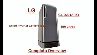 LG Smart Inverter Refrigerator GL - D201APZY Complete Overview Review Talks - 24 db