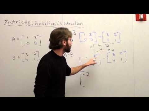 Matrix Addition and Subtraction from YouTube · Duration:  3 minutes 19 seconds