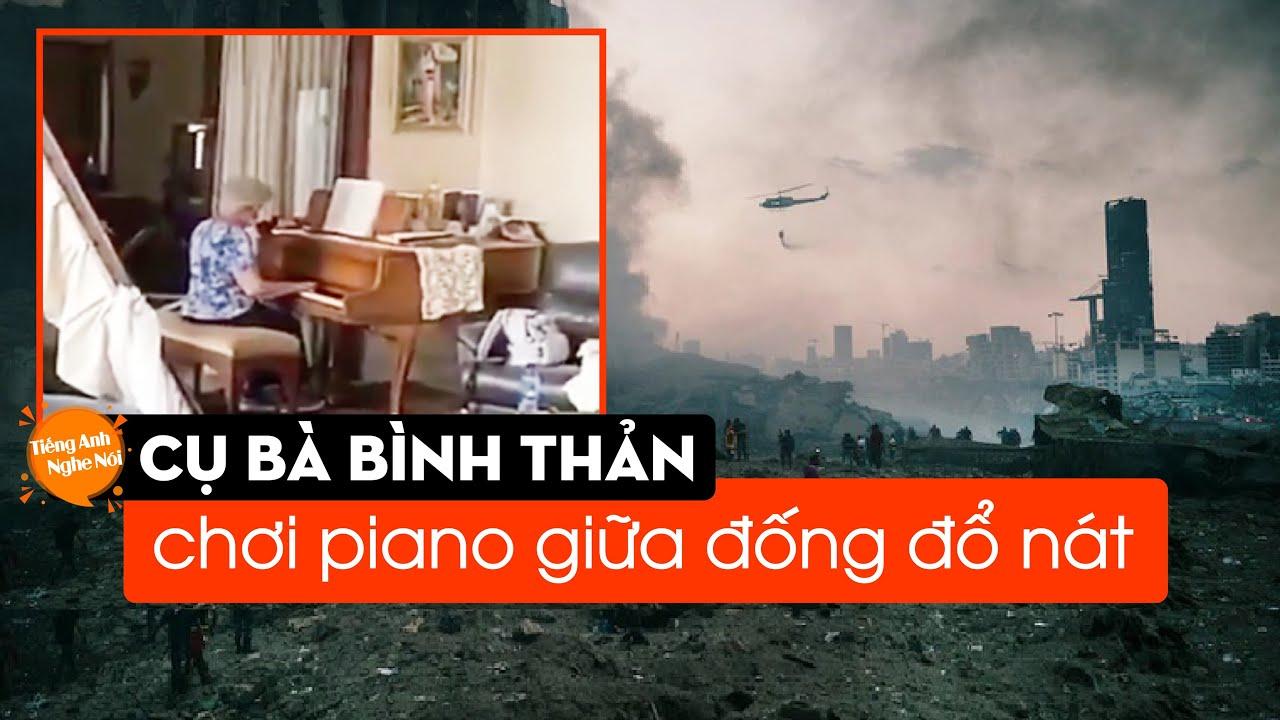 [TIN ÂU MỸ] Cụ bà bình thản chơi piano giữa đống đổ nát - XEM ĐỂ CÓ THÊM NIỀM TIN VÀO CUỘC SỐNG