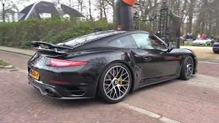 Porsche 991 Turbo S with Akrapovic Exhaust - Loud Acceleration Sounds !