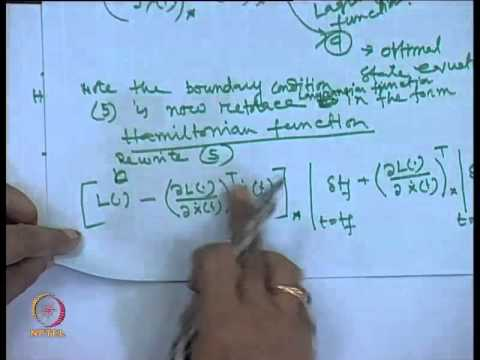 Mod-01 Lec-35 Hamiltonian Formulation for Solution of optimal control problem and numerical example
