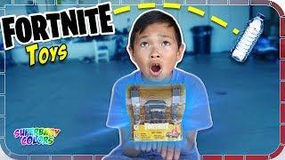 BOTTLE FLIP for Fortnite Loot Chest Toys 🎮🚂😂