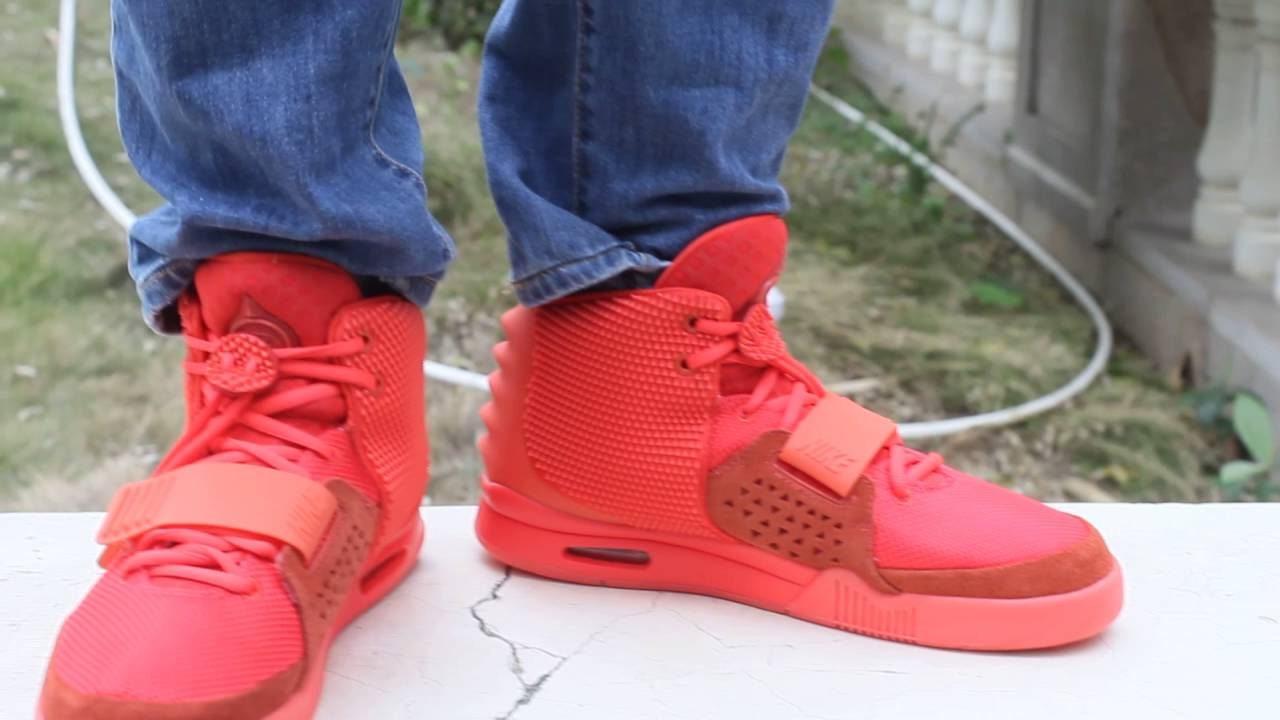 Nike Air Yeezy 2 Red October On Feet