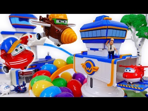 Thumbnail: Surprise Eggs From Super Wings S2 New Control Tower~!