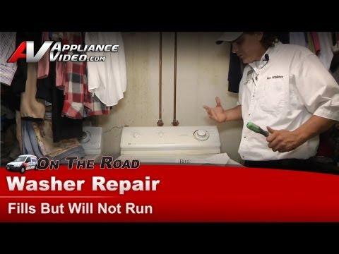 Maytag, Whirlpool & Roper  Washer Repair - Fills but Will Not Run or start