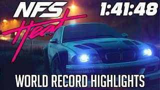 NFS Heat 1:41:48 (w/DLC) World Record Speedrun Highlights | First WR of the decade!