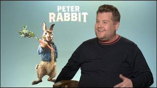 PETER RABBIT interviews - James Corden, Domhnall Gleeson, Rose Byrne - Carpool Karoake