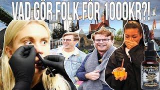 VAD GÖR FOLK FÖR 1000 KR?(1,000,000 SCOVILLE STARK SÅS)