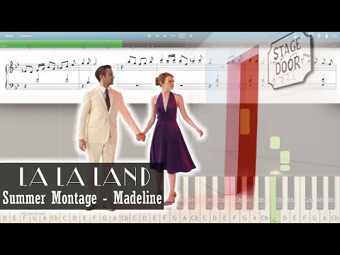 Summer Montage - Madeline - La La Land (2016) [Piano Tutorial | Sheets | MIDI] Synthesia