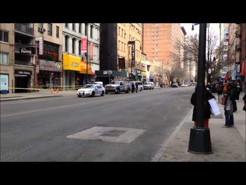 FDNY AND NYPD RESPONDING AND ON SCENE OF A SUSPICIOUS SUITCASE BOMB SCARE CALL ON W. 14TH ST., NYC.