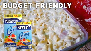 MACARONI SALAD | BUDGET FRIENDLY | 4 INGREDIENTS LANG! SOOO CREAMYYY PINOY TASTE