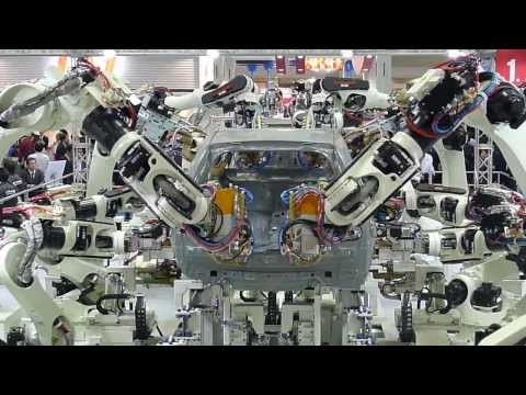 Kawasaki Car-Building Robots: Tokyo iREX 2013
