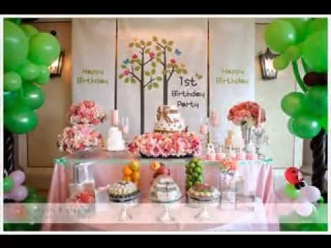 Little girl birthday party decoration - YouTube