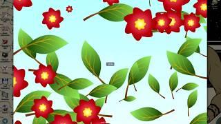 INKSCAPE - композиция из листиков