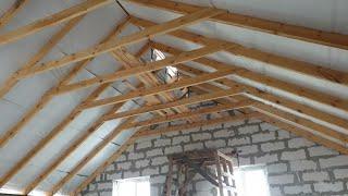 как сделать крышу без потолка