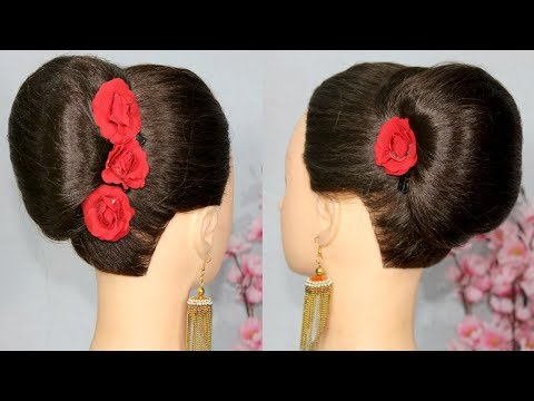 Very easy 1 min french roll hairstyle trick with donut bun || french bun hairstyle || french twist thumbnail