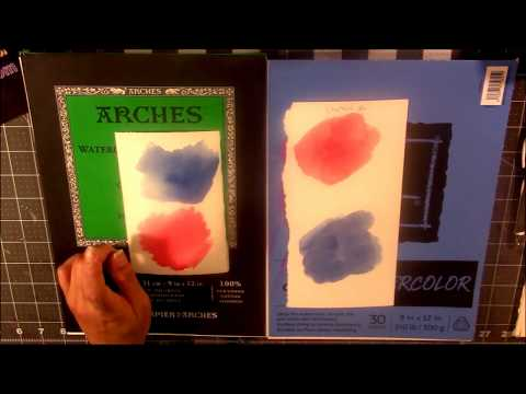 Watercolor Paper: Student vs Artist Quality (Demo at End)