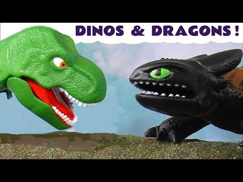 Dinosaurs and Dragons Toy Stories with Cars McQueen Thomas The Tank Engine and funny Funlings TT4U