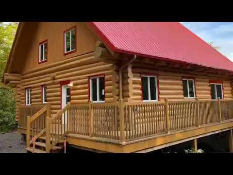 Restauration Et Teinture De Maison En Bois Rond   Ma Cabane Au Canada