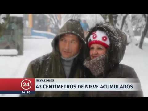 Región de Magallanes bajo la nieve