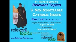 5 Hot Voting Issues for Catholics by Fr. Richard Simon