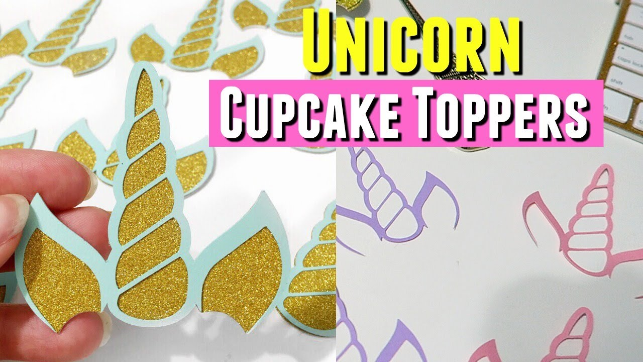image about Unicorn Cupcake Toppers Printable named Do it yourself Selfmade UNICORN CUPCAKE TOPPERS LUNCH Day WITH MY SISTER