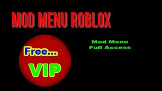 how to have a menu mod on roblox tuto en