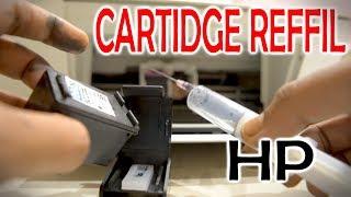 HP Inkjet Printer Black Cartridge Refill At Home